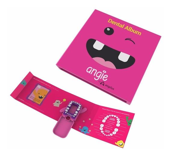 Dental Álbum Angie Porta Dente De Leite Rosa/azul Infantil