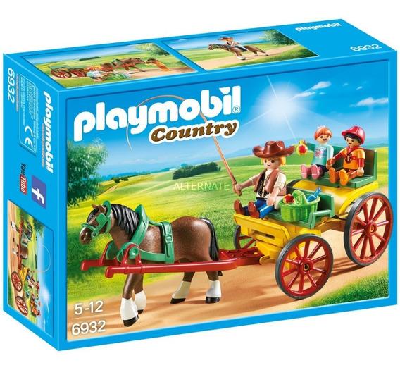 Playmobil 6932 Country Carruaje Con Caballo Orig Intek