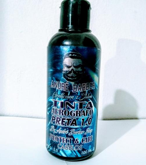Tinta Preta Pigmentação Barba E Cabelo 100ml Para Aerógrafo