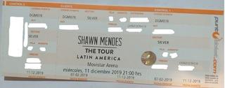 Entradas Shawn Mendes Función 11/12 Silver Con Mercado Pago+