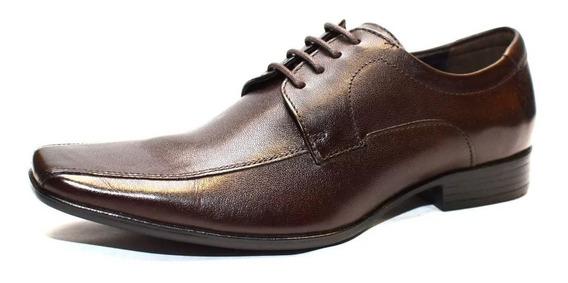 Zapato Acordonado De Cuero Democrata Hombre Premier 206285