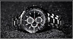 Relógio Curren 8023 Aço Inoxidável Resistente Água 30m Preto