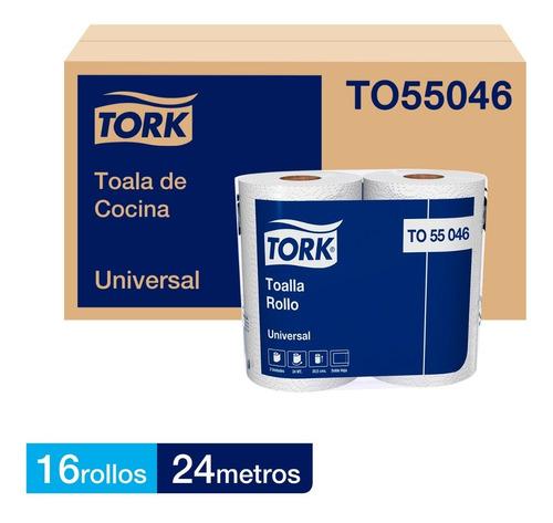 Toalla Cocina Tork Doble Hoja Universal 16 Rollos 24 Mts.