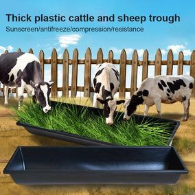 Plástico Cabra Vaca Engrossar Calha De Alimentação Preto