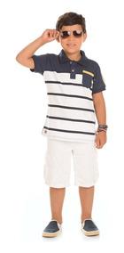 Camisa Polo Infantil Masculino Serelepe 08 E 10 Anos