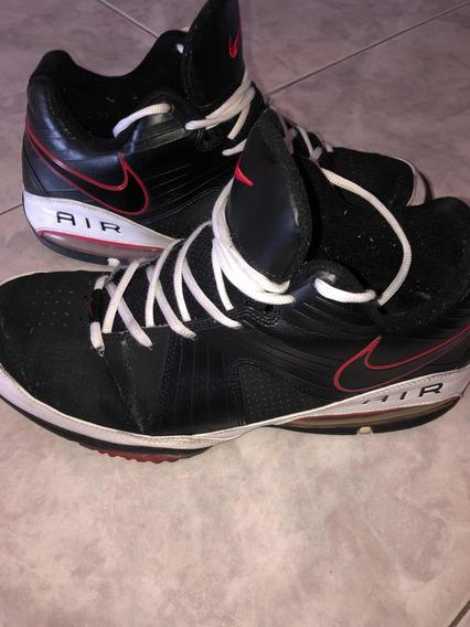 Zapatillas Nike Air Basquet Cuero