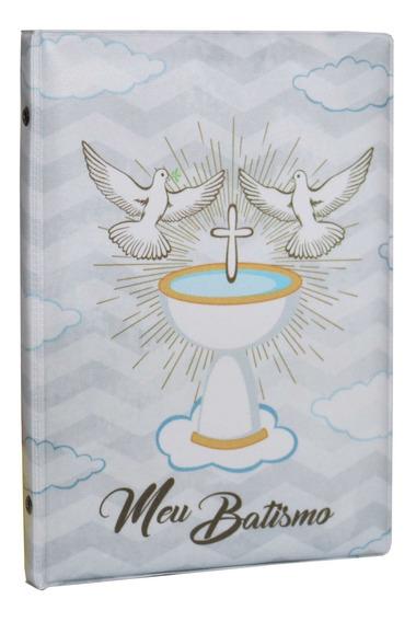 Álbum Fotográfico Capa Batizado Batismo Para 40 Fotos 15x21