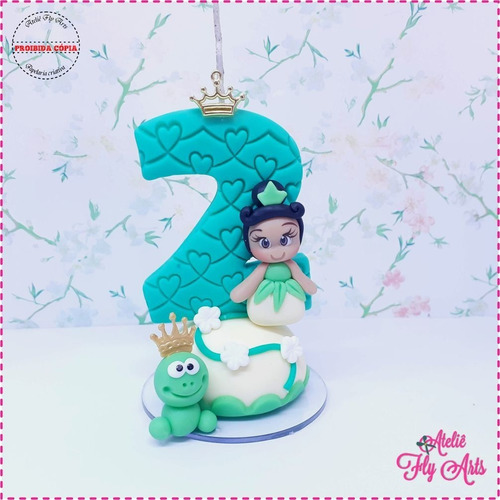 Velas Tematica Em Biscuit Vela Aniversario Princesa Tiana