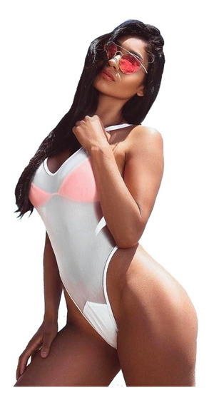 Traje De Baño Sexy Monokini Playa Transparente Bikini Atrevi
