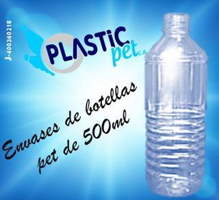 Botella Medio Litro O 500 Ml Plastico Pet