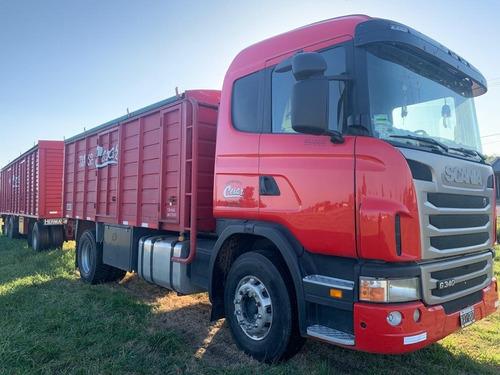 Camion Scania G340 Largo Con Caja Y Acoplado Cerealero