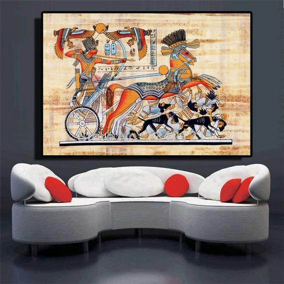 Papiro Egípcio Quadro Pintura A Oleo