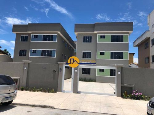 Lançamento: Apartamento Com 2 Dormitórios À Venda, 60 M² Por R$ 210.000 - Recreio - Rio Das Ostras/rj - Ap0664
