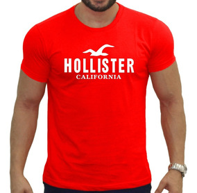 Camiseta Vermelha Hollister Abercrombie Masculina