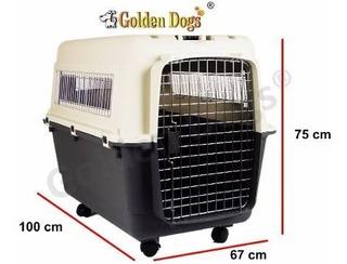 Jaula Transportadora Mascotas Gigante C/rueditas (100x67x75)