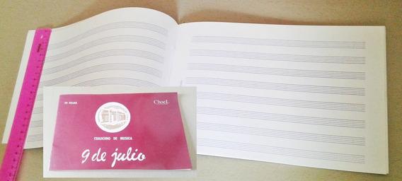 Cuaderno Pentagramado / De Musica ; Apaisado X 20 Hojas