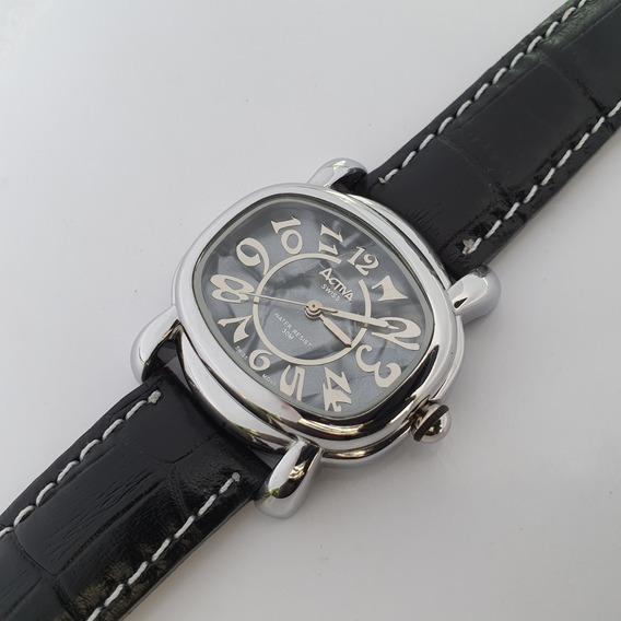 Relógio Feminino Activa Madrepérola Cinza Swiss Movt