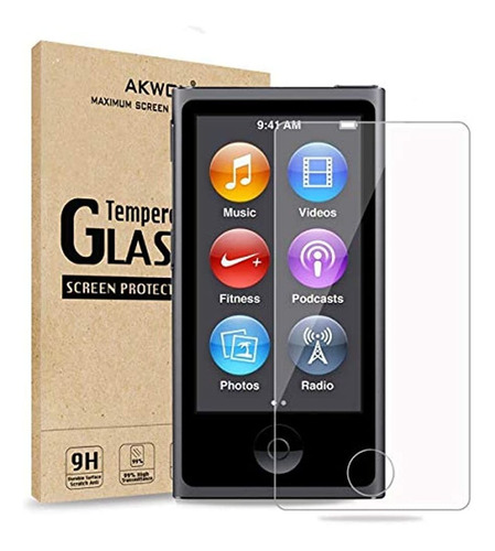 (pack De 2) iPod Nano 7 8th Protector De Pantalla, Akwox 0.3
