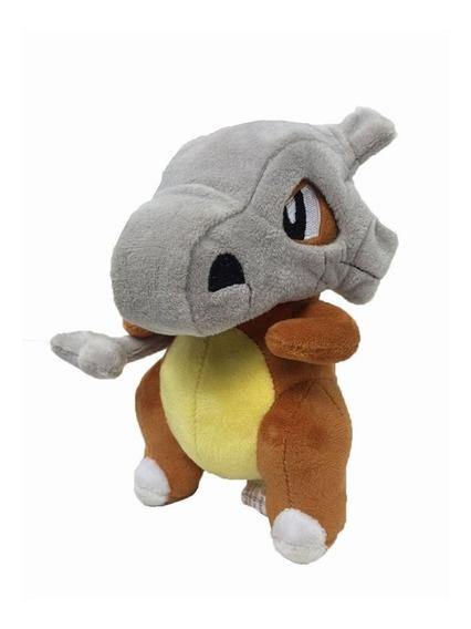 Cubone Pokémon Pelúcia 18cm Capacete Removível Pikachu