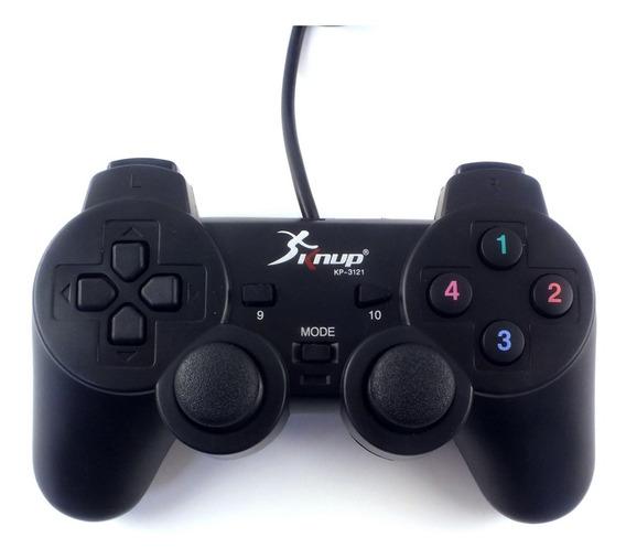 Acessorio Video Game Joystick Knup Usb Analogio Modelo Kp-3121 Para Pc Produto De Mostruario Sem Embalagem A11072