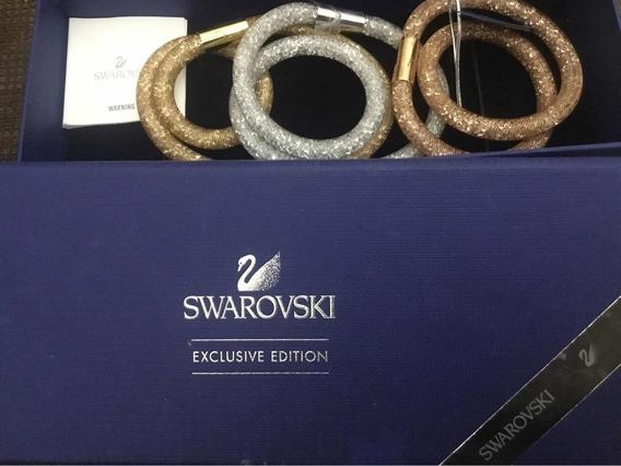Pulseiras Swarovski Exclusive Edition, Nova Com A Caixa.