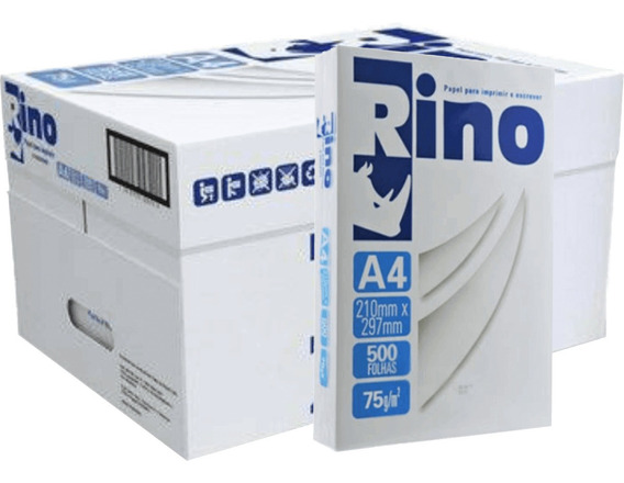 Papel Sulfite Rino A4 C/500fls Caixa Com 10 Pacotes