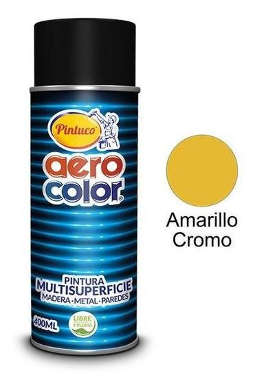 Aerosol Laca Amarillo Cromo Medio 400 Ml. Aerocolor