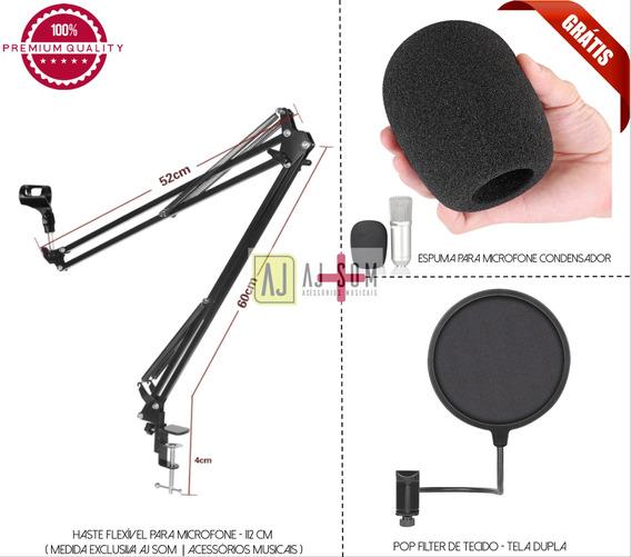 Pedestal Articulado,haste P/microfone,rádio 112 Cm+pop !