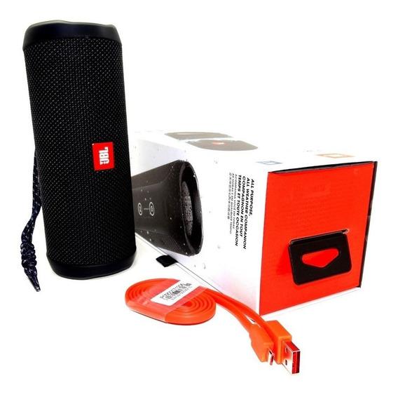 Caixa Som Bluetooth Jbl Flip 4 - Original - Preto C/ Nfe