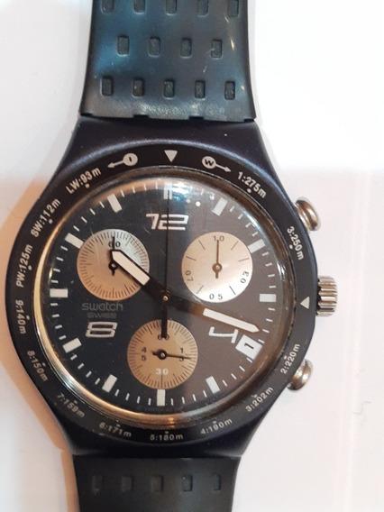 Reloj Swatch Irony Aluminium De 37mm, Cronógrafo Excelente