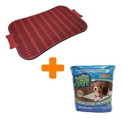Set Bandeja Sanitaria Baño Perro + Paño Pet X5 Unidades