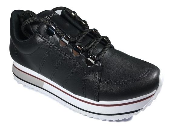 Tênis Ramarim Feminino Preto Sneaker Tratorado 1971101