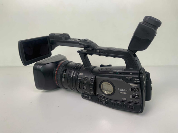 Câmera Cânon Xf 300 + Flash E Bolsa