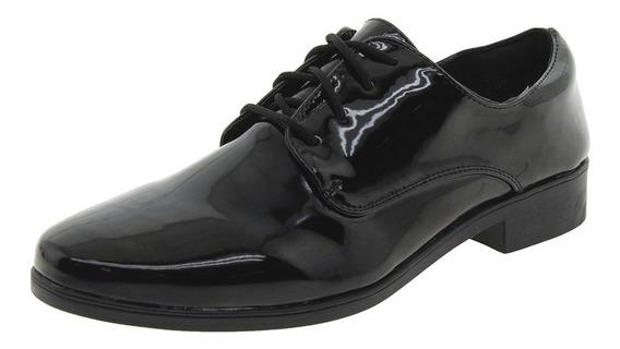 Sapato Feminino Oxford Verniz/preto Facinelli - 51801