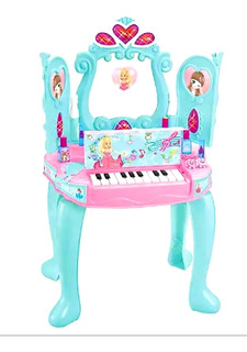 Tocador Infantil Piano Mágico 2 En 1 Niñas Belleza Juguetes