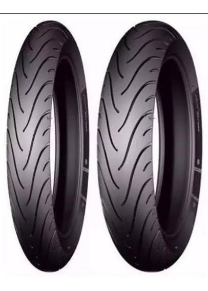 Par Pneu Michelin Titan 150 100/90-18 + 275-18 Pilot Street