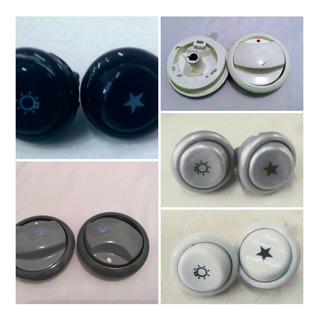 Kit Com 7 Botões Com Cano Curto Dako Magister Diplomata Civic ® +2 Botões Interruptores (faísca, Luz De Forno)