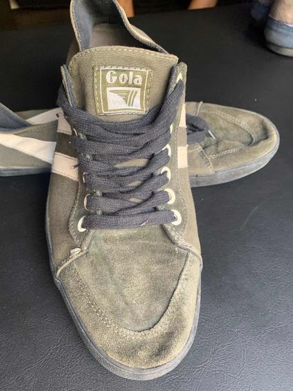 Zapatillas Gola Verde Militar 42