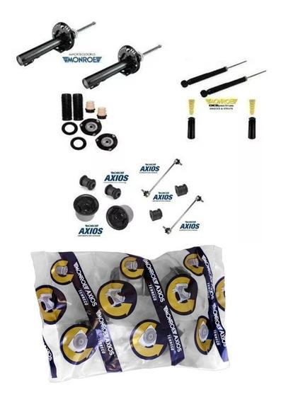 04 Amortecedores Monroe + Kits Batentes Fox / Polo
