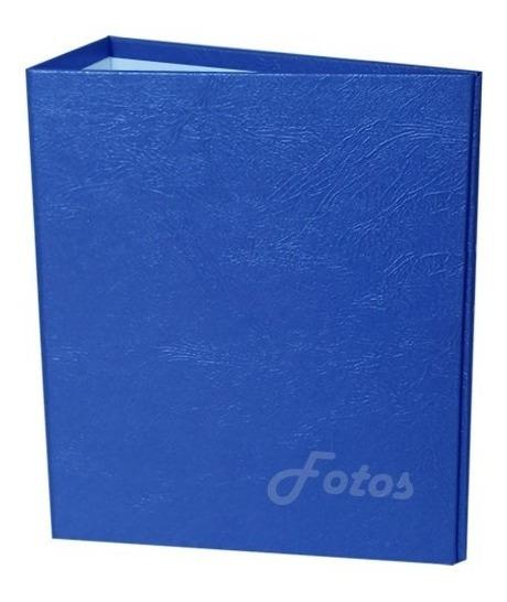 Álbum Azul Liso 15x21 - 200 Fotos + 1 Brinde Especial