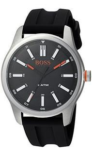 Hugo Boss Reloj Casual De Cuarzo De Acero Inoxidable Y Cauch
