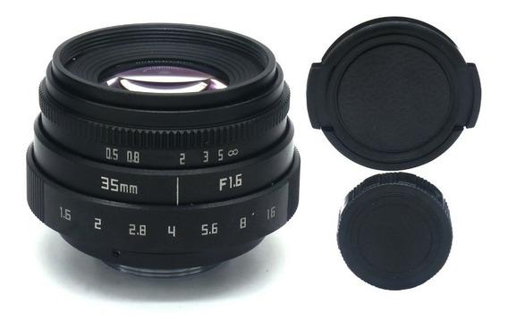 Lente M4/3 Mft 35mm F1.6 Para Bmpcc 4k E Panasonic Gh5 Gh5s