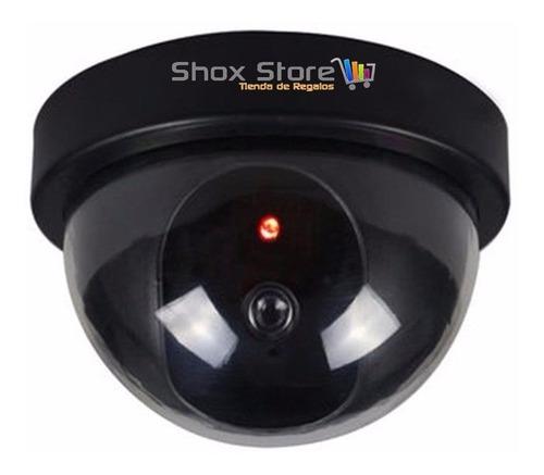Imagen 1 de 9 de Camara Seguridad Falsa Domo + Led Intermitente Imita Sensor