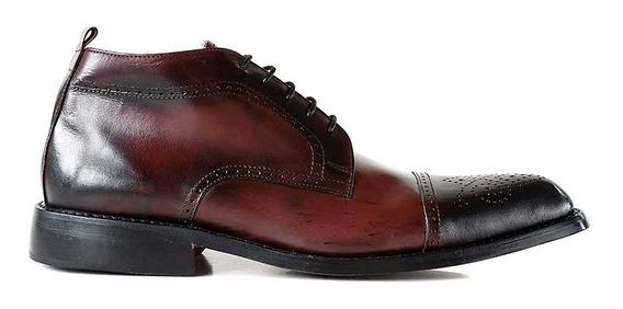 Bota Cuero Hombre Briganti Zapato Vestir Borcego Hcbo00851