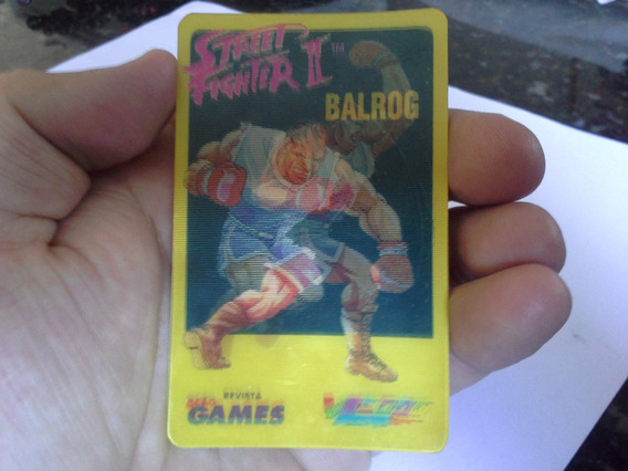Cards Holográfico Street Fighter 2 - Ação Games