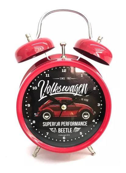 Relógio Despertador Antigo Retro Sino Fusca Vw Original