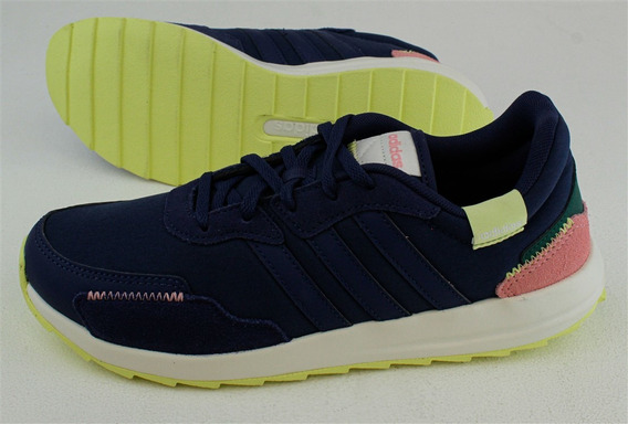 Tenis adidas Retrorun Dama Color Azul Blanco Coral
