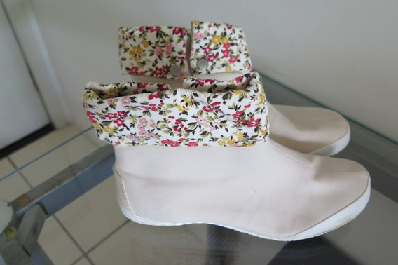 Converse Bota Floral Bege