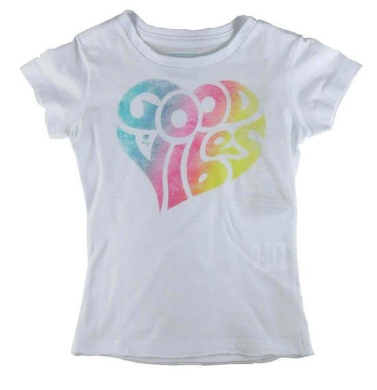 Camiseta Infantil Menina Mini Us Good Vibes Girl -