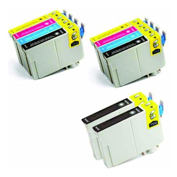 Kit 10 Cartuchos P/ Impressoras Tx135 T25 Tx123 Tx133 Tx125